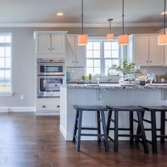 The #Kitchen and #BreakfastNook of the #Ariel model at 1525 Zestar Drive, #Mechanicsburg in #Orchard Glen. 2015 Harrisburg