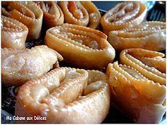 Khechkhach (oreillettes) - Cuisinez avec Djouza, blog de gateaux algeriens - orientaux - cuisine algerienne
