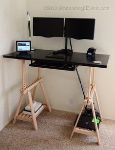 DIY Standing Desk Kit - The Adjustable Hight Standing Desk / Stand-Up Desk Conversion Kit: Amazon.co.uk: Kitchen & Home
