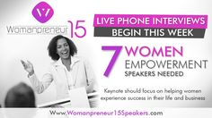 We are looking to interview speakers, coaches, authors, and trainers who want to join the movement to re-write the history books of women in business and personal development. If you are a Womanpreneur on the rise, with your stories of grit, mind-blowing careers, and absolute amazement of shattering the glass ceilings in life and business, we want YOU as a speaker.