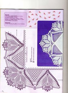 Diy Crafts - Browse our free lace edging crochet patterns and find your favorite one. Do not forget to share our free lace edging crochet patterns. Col Crochet, Crochet Lace Edging, Crochet Motifs, Crochet Diagram, Crochet Chart, Crochet Home, Thread Crochet, Filet Crochet, Crochet Doilies