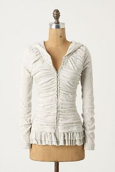 $39.95 Superfluous Bellows Hoodie anthropologie.  Sold out in my size but if I could make this, I would, but without a hood & in a better color.  It's such a pretty jacket!