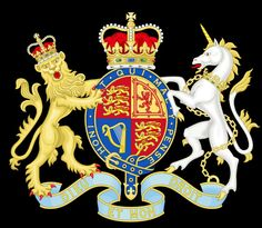 Royal Coat Of Arms - The United Kingdom / 95% of my ancestors are from Great Britain