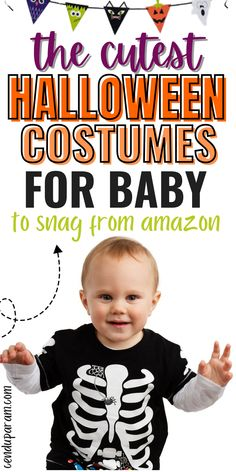 Looking for an EPIC baby Halloween costume? Check out these seriously cute baby Halloween costumes you can snag from amazon (perfect if you're a last minute person like me). Whether you need baby girl Halloween costumes or Halloween costumes for boys, I've got you covered. These costumes are also perfect to create family Halloween costumes too! Make baby's first Halloween costume a memorable one with one of these cute costumes. Lots of infant Halloween costume ideas too! Baby First Halloween Costume, Last Minute Halloween Costumes, Halloween Activities For Kids, Cute Costumes