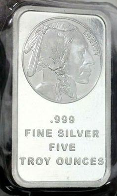 Sealed Silver Towne 1 Troy oz .999 Bar BU Brilliant uncirculated Bullion