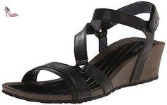 Teva Woman Cabrillo Crossover Wedge Sandal Black 42 - Chaussures teva (*Partner-Link)