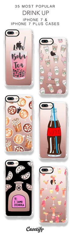 35 Most Popular Drink Up Protective iPhone 7 Cases and iPhone 7 Plus Cases. More Drinks iPhone case here > https://www.casetify.com/collections/top_100_designs#/?vc=r1Mk3yJPTB