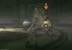 "The Legend of Zelda: Twilight Princess, Link and a Darknut / thesnowmask: ""How to actually fight in Zelda games"""