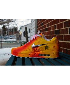 Comfortable Nike Air Max 90 Custom Candy Drip Blue Lava Glow