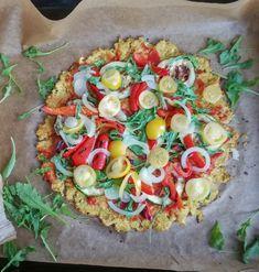 Vegetarian Recipes, Healthy Recipes, Vegetable Pizza, Recipies, Food And Drink, Veggies, Healthy Eating, Menu, Cooking