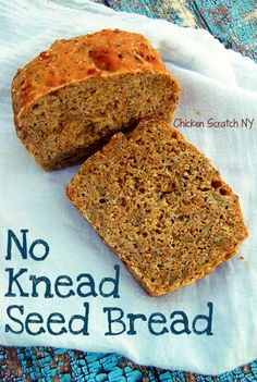 No Knead Seed Bread - Fast and easy to throw together with a little bit of this and a little of that you can whip up your own hearty loaf (it makes the best toast!)