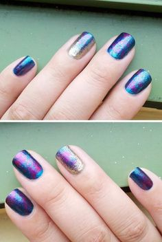 Layered colors using cling wrap as a sponge.