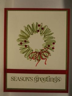 Sketch It Greetings Card by candee porter - Cards and Paper Crafts at Splitcoaststampers Holiday Cards, Christmas Cards, Stampin Up Cards, I Card, Card Stock, Christmas Wreaths, Greeting Cards, Paper Crafts, Celery