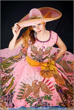 charra mexicana--Wow, love that dress and it's color . I used to have this dress when I was little  ..in black