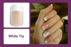 The classic French tip look, this clear wrap features a white tip. #bevsjamminnails https://bkimball.jamberry.com/us/en/shop/products/white-tip-short#.Vxe4h_krJQI
