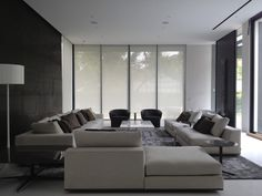Living room furnished with Minotti