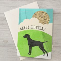Hungarian Vizsla Birthday Card