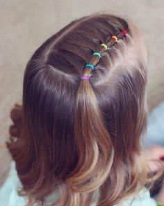 The picture may include: one or more persons and close-up - Haar-Tutorial einfach - hair Girls Hairdos, Baby Girl Hairstyles, Kids Braided Hairstyles, Girl Haircuts, Trendy Hairstyles, Short Haircuts, Easy Toddler Hairstyles, Prom Hairstyles, Black Hairstyles