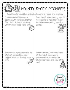 Bring the holidays into your special education classroom with these fun word problems. This is just one activity from my Holidays in the Special Education Classroom.