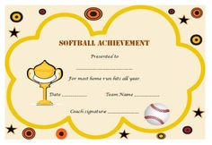 Softballmedal1certificate softball certificate templates professional and free softball certificate templates suitable for your next softball tournament increase the passion among your softball players with yadclub Choice Image