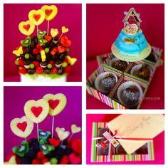 Nos encantan las bodas!!! Este ramo de frutas personalizado con corazones, especial para la hora de la barra libre | El sabor perfecto para la fiesta y los invitados | Que vivan los novios!!! #Ramosconhistoria #dessert #partyfavors