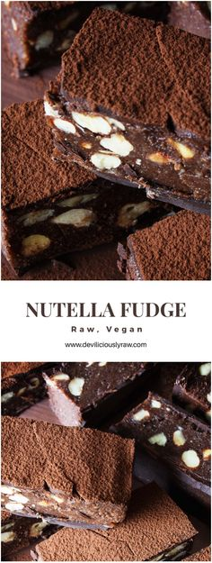#raw #vegan Nutella Fudge from Deviliciously Raw