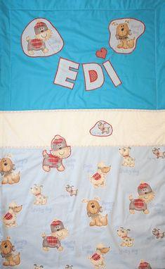 baby blanket for a newborn boy Edgar with scottisch dogs 70 x 100 cm 2017. www.masnimesi.net