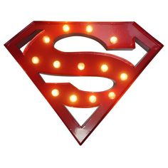 Sweetlights, Superman lampe - rød 30 cm store pærer