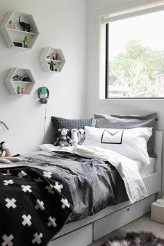 ▷ 1001 + ideas de habitaciones juveniles para el 2018 - Rot Tutorial and Ideas White Bedroom Design, Bedroom Colors, Bedroom Decor, Bedroom Designs, Bedroom For Girls Kids, Boys Room Design, Trendy Bedroom, New Room, Girl Room