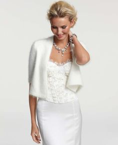 26 best bridal cover ups images on pinterest short wedding gowns angora blend shrug perfect for winter brides junglespirit Gallery