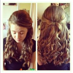You Could Use This Hairstyle For Homecoming Prom Or A Wedding Something Pretty Simple But Looks Formal
