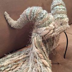 Burning Man Headdress Wool Dreadlock Horn Headdress Druid