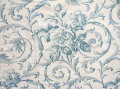 Timeless antique Blue toile from France ~ lovely French faded china blue ~