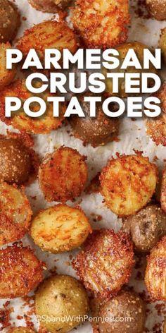 Potato Sides, Potato Side Dishes, Vegetable Side Dishes, Roasted Potato Recipes, Vegetable Recipes, Easy Oven Roasted Potatoes, Oven Potato Recipes, Cook Potatoes, Healthy Potato Recipes