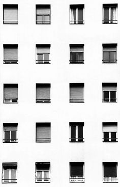 """thegetty:  """"Window typologies  """" We were interested in architecture. But what you call """"architecture"""" is probably designed architecture, and we were both interested in that difference. The principle """"form follows function"""" is rather not in architecture..."""