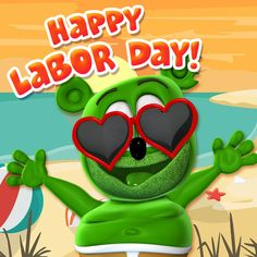 Happy Labor Day! - http://www.thegummybear.com/2017/09/04/happy-labor-day/ - animated, animation, gummibär, gummy bear, gummy bear song, gummybear, gummybear international, i am a gummybear, the gummy bear song, youtube, youtuber