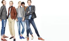 The Always List...blazer with a striped shirt under and loafers could be preppy and warm