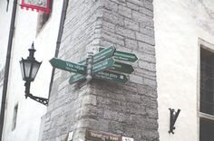 Street directions in the medieval part of Tallinn Street Signs, Old Cars, Photo Art, Medieval, Stock Photos, Photography, Templates, Website, Food