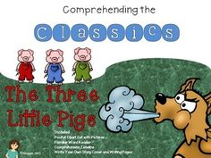 This is the first in a series of classic stories that focuses on story sequencing, comprehension, text comparison opportunities and more.  It can pair easily with any of your favorite tellings of The Three Little Pigs. The sequence I follow is an intro of a favorite version of The Three Little Pigs, then we construct our story using the pocket chart cards and pictures.