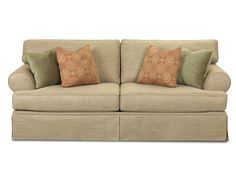 loose back pillows s howells point great room pinterest
