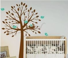 You can choose the color of the tree, leaves, and birds. $85. http://www.wallstickeroutlet.com/wall-decor-detail.php?RecordID=300018