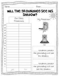 Miss Kindergarten: Groundhog Day Ideas