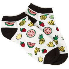 FOREVER 21+ PLUS SIZES Fruit Frenzy Ankle Socks ($1.50) ❤ liked on Polyvore featuring intimates, hosiery, socks, accessories, shoes, socks and tights, forever 21 socks, tennis socks, short socks and forever 21