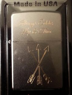 Custom Engraved Zippo LighterHand Engraved or Sand by bcengraving1, $25.00