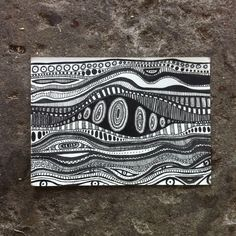 Funky Psychedelic Doodle Zentangle Pattern A6 Postcard Illustration by TheMindfulMandala on Etsy https://www.etsy.com/listing/271156345/funky-psychedelic-doodle-zentangle