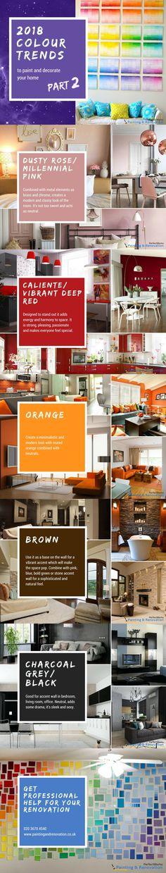 2018 Colour Trends - Part 2 #interiordesign #homedecor #modern #homedecorideas