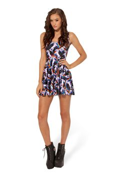Attack of the Unicorn Reversible Skater Dress by Black Milk Clothing $85AUD