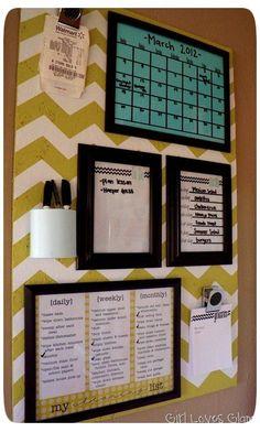 DIY #home #bedroom #bulletinboard #chevron #stripe by Hippomite