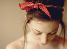 headband- twist bandanna, then knot