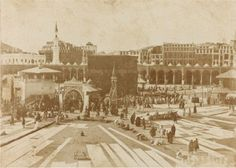 Masjid al-Haram in the Originally found on: saharfakhri Masjid Al Haram, History Of Islam, Mekkah, Beautiful Mosques, Saints, Sacred Architecture, Rare Pictures, Beautiful Pictures, Place Of Worship
